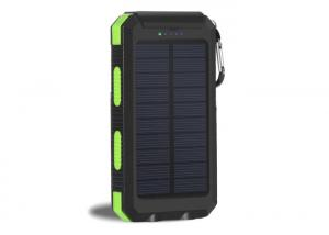 China Waterproof Solar USB Power Bank / Solar Mobile Power Bank 8000mah With Compass on sale