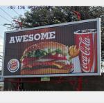 advertising aluminium light box rotating billboard