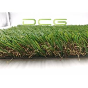 China 35mm 4 Tone Artificial Grass Landscaping High Temperature Resistant Landscaping Turf on sale