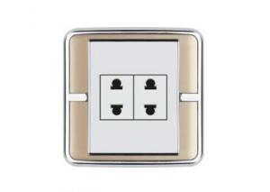 China Global/Universal used electrical wall socket light switches 10A 250V two pins  PC / ABS on sale