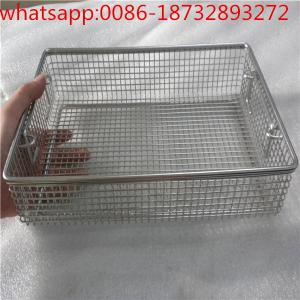 China wire mesh baskets/ disinfect basket/ stainless steel welding wire mesh baskets/wire mesh baskets on sale