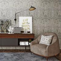 Fashion Bedroom Plant Fiber Particle Wallpaper China Manufacture