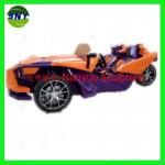 cartoon statue super car model multi-color fiberglass as decoration statue in shop/ mall /event