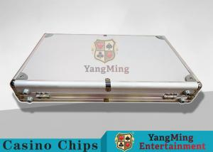 China Aluminum Carrying Case For Casino Poker Chip Set  Metal Poker Chip Box For 600pcs on sale