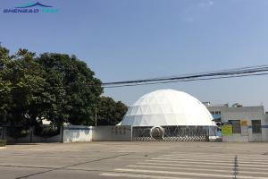 China Customized 20m Round Geodesic Dome Tent  With 850g/sqm Pvc Cover on sale
