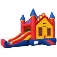 Full Size Inflatable Bouncer Combo Big Jumpy House Silk Printing Enviroment - Friendly