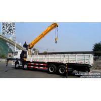 DRZ 8x4 SHACMAN lorry truck mounted crane 14T XCMG  SQS350K4Q telescopic boom cell:8615271357675