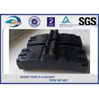 Low Friction Train Wheel Composite Brake Block Cast Iron / Locomotive Brake Shoe