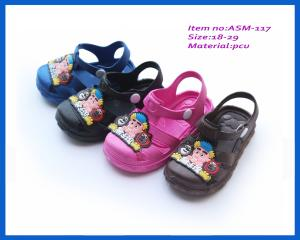 e0ed80e7d0624 Cheapest children fashion colorful slippers newest PCU sandals ASM ...