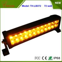 Amber and White Color 13.5 inch Epistar LED Strobe Light Bar 72W Flash Lamp for Sale