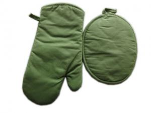 China High Quality Kitchen Set of Oven Glove and Potholder, Olive Green on sale