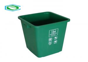 China 100 Liter Standing Rectangle 20 Gallon Trash Can Eco Friendly Plastic Waste Container on sale