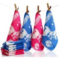 Cotton 4 Layers Jacquard Gauze Scarf Skin Water Child Towel 12 Piece Per Set