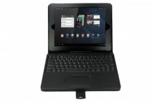 China Motorola xoom bluetooth keyboard case with wireless touchpad mouse  on sale