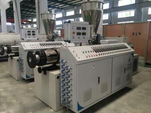 China Twin Screw Plastic Extruder Machine For PVC Pipe Sheet Profile And Granules on sale