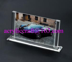 China Marco de acrílico transparente de la foto del tenedor de la demostración de la imagen del plexiglás on sale