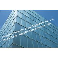 Double Silver Low-E Coating Film Glazed Stick-built System Glass Façade Curtain Wall Office Buildings