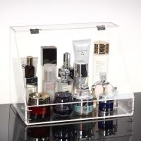 Plexiglass Makeup Display Stand Clear Acrylic Storage Box Plastic Organizer
