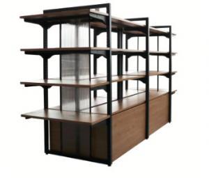 China Modern Popular Gondola Retail Display Shelving Wood Wall Hanging Furniture on sale