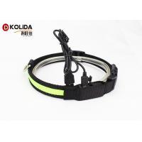 Waterproof USB Rechargeable LED Dog Collar Nylon Dog Neck Strap With LED Flashing Light