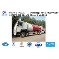 China factory sale best price HOWO brand propane gas dispenser truck, 20cubic -25cubic lpg gas truck for refillin gas cylinder on sale