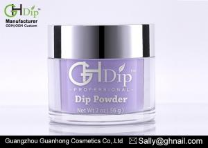 China Organic Nail Salon Dip Powder Fingernails Dipping 2 Oz Capacity Purple Color on sale