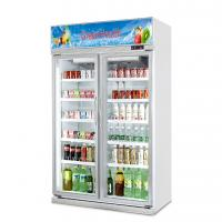 China Upright Slide Glass Door Freezer Showcase For Commercial Automatic Defrost Type on sale