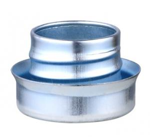 China Metal Flexible Conduit Fittings Conduit Ferrule Flat Type Galvanized Surface on sale