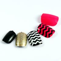 Healthy Fingers Fake Nails Stripe pattern For women , Adult False nail