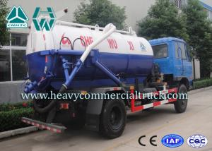 China Electric Control Carbon Steel Vacuum Sewage Suction Trucks With ISO Approved on sale
