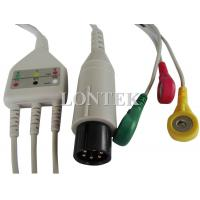 3 Lead TPU ECG Patient Cable IEC One Piece Snap IEC