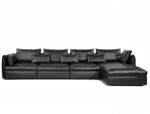 China Italian Home Living Room Furniture Modern Designer Leather Sofa Bed Feather Couch on sale