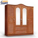 Indoor Custom Made Louvered Closet Doors , Shutter Wardrobe Doors 4 Drawers Front