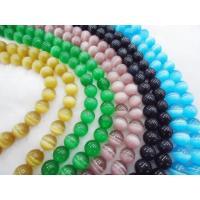 Beaded Handmade Jewellery Colorful Cat Eye Bead, 10mm Semi Precious Stone Beads