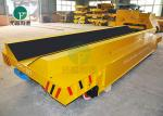 20-100 Ton Steel Pipe Motorized Load Railway Transport Cast Iron Rail Truck Cart With V Deck