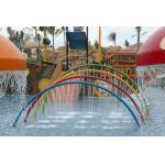 Rainbow Door Aqua Playground Spray Toys  Fountains Play Structure
