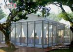 25 x 40 Meter White Color Glass Outdoor Party Tents For 1000 People Wedding