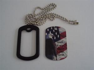 China The American flag and eagle design metal dog tag,Stars and Stripes flag and eagle dog tag on sale