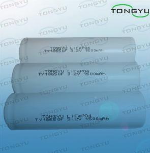 China コードレス動力工具のための円柱 LiFePO4 リチウム イオン電池 3.2V 1500Ah 18650 on sale