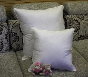 2cm 4cm White Duck Feather Cotton Sofa Cushion Replacement Inserts Double