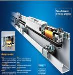High Safety Adjustable Frameless Glass Sliding Doors Energy Saving