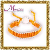 Customized lovely orange links friendship bracelets / bangles for ladies LS032