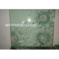 China Grinded Edges Clear Laminated Bullet Proof Glass Doors ISO / CE on sale