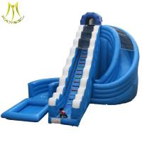 Hansel attractive family entertainment giant water inflatable slide for sale