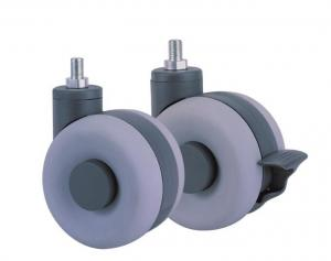 China Iron + Plastic Caster Wheels For Furniture Legs , Replacement Rolling Wheels on sale