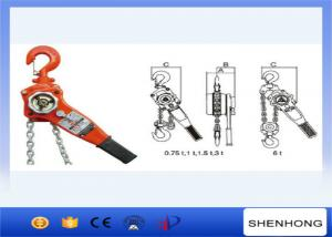 China 6 Ton Manual Lifting Equipment Chain Lever Block With 1.5M  Standard Chain on sale