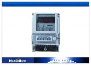 China Card Prepayment Electric Energy Meter , Surge Protection Wireless Power Meter on sale