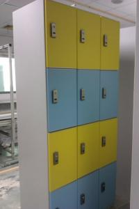 China Electronic Locker System With Software , Gym Smart Locker System Flame Retardant on sale