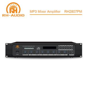 China RH-AUDIO Power Mixer Amplifier for Sale with Built in USB Port for School PA System on sale