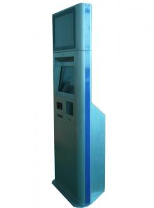 China Mulitmedia Kiosks With Barcode Scanner And Card Reader, Thermal Printer For Government / Payment on sale